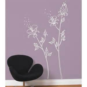 white flower wall stickers white flower vinyl wall decals stickers furniture living