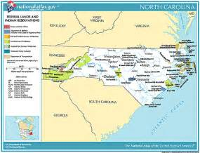carolina indian tribes map printable maps federal lands