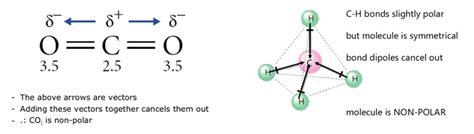 which electron dot diagram represents a polar molecule polarity of a molecule brilliant math science wiki
