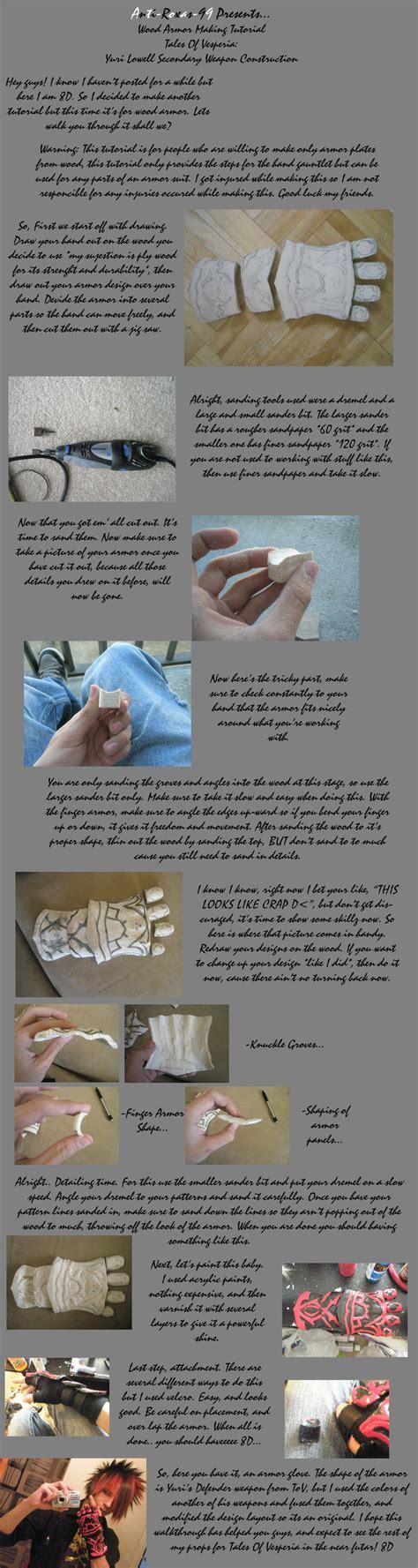 woodworking tutorial wood armor tutorial tov by anti roxas 99 on deviantart
