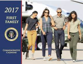 obama family details about 2017 first family obama president calendar