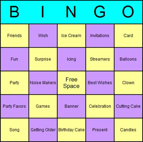 free printable bingo games for adults 5 best images of free printables birthday games birthday