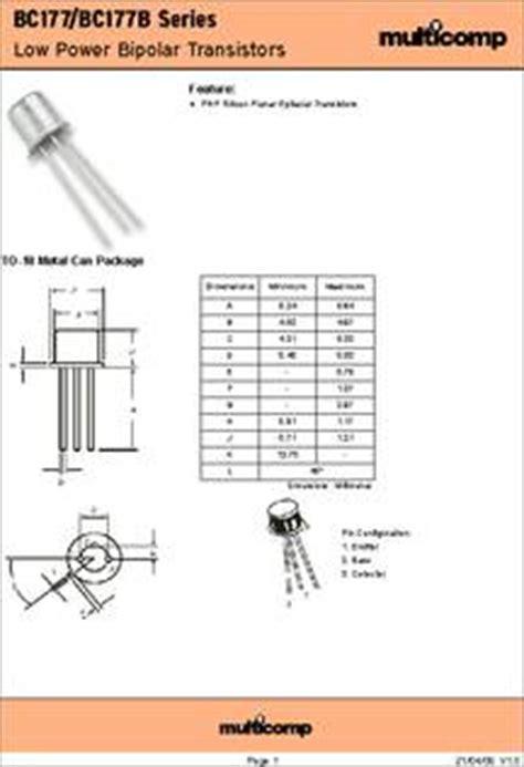 transistor bc337 beta bc177 datasheet specifications transistor polarity pnp
