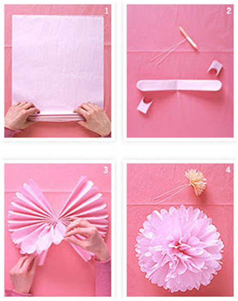 Make Your Own Tissue Paper Pom Poms - loosh creations how to make your own pom poms