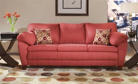 Living Room With Burgundy Sofa by Burgundy Micro Suede Living Room Sofa W Options