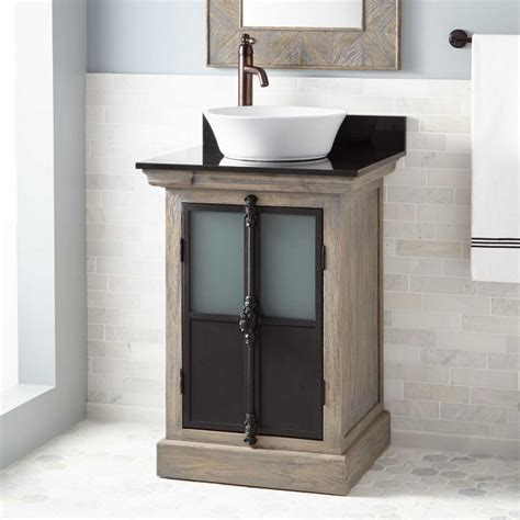24 bathroom vanity with vessel sink 24 quot garton oak vessel sink vanity gray wash oak bathroom
