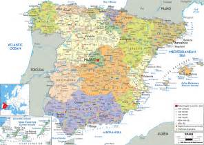 Map Of Southern Spain by Map Of South Of Spain