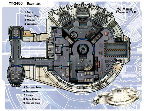 millenium falcon deck plans yt 2400 dauntless by thedarkestseason on deviantart halo