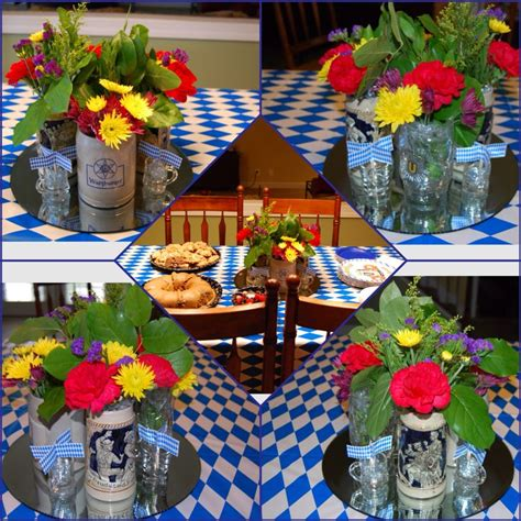 german themed decorations for an oktoberfest i filled four vintage german