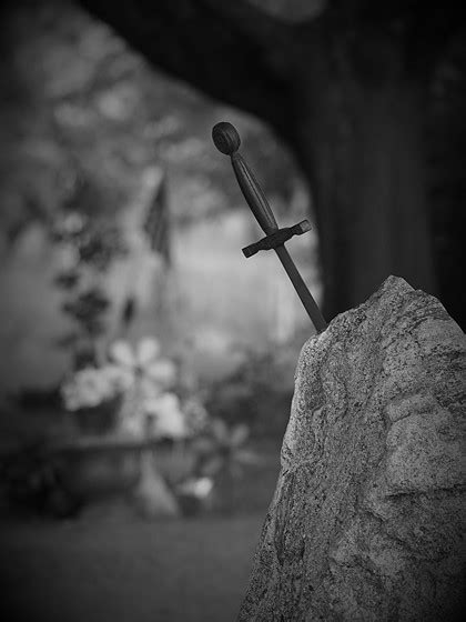 sword   stone black  white photography forum