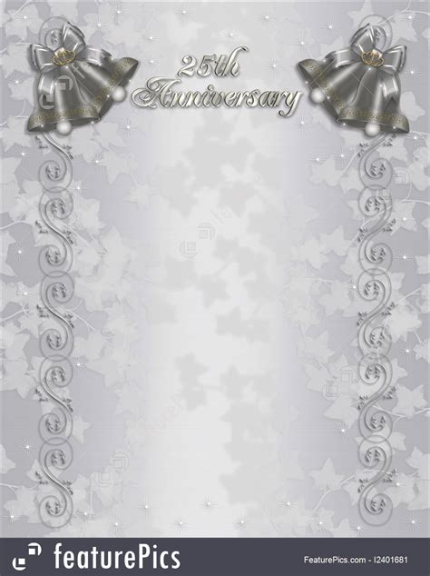 silver wedding invitation background 25th wedding anniversary invitation silver bells stock illustration i2401681 at featurepics