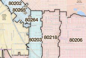 Denver Zip Codes Map by Denver Colorado Printable U S Zip Code Boundary Maps