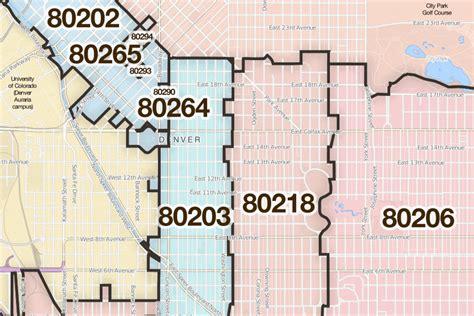 zip code map denver denver colorado printable u s zip code boundary maps maptechnica