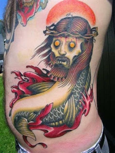 bad fish tattoo 1000 images about religious jesus designs on