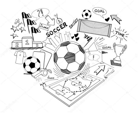 doodle soccer soccer doodle illustration illustration stock photo
