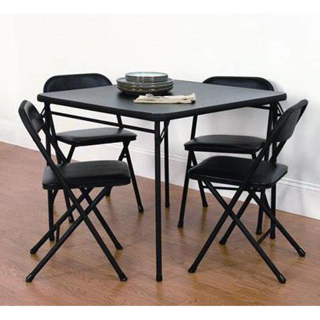 0008164894 cards on the table mainstays 5 piece card table and chair set black