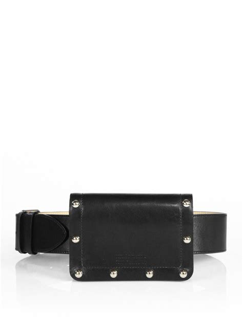 Marc By Marc Belt Bag by Lyst Marc By Marc Quintana Leather Belt Bag In Black