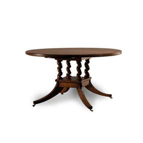 edge dining table serpent c leg dining table with edge hyde park hom