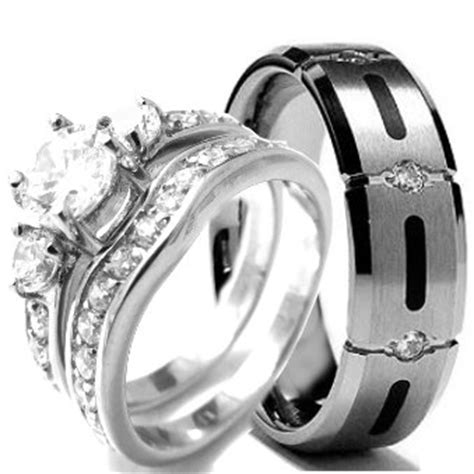 Couples Wedding Bands   Wedding rings set His and Hers