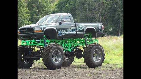 truck mud quot relentless quot dodge dakota mega truck at walts mud bog