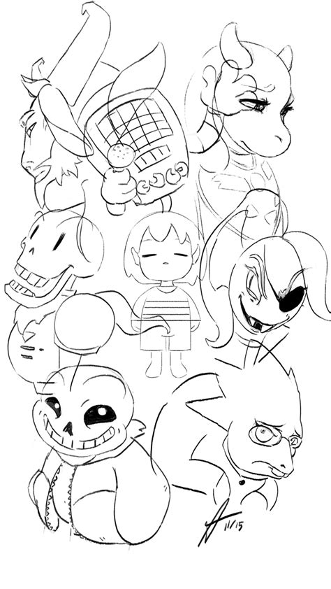 coloring pages undertale undertale characters sketch by aquatrollmoon on