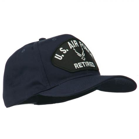 Us Air Forces Cap Black embroidered cap navy black air us retired patched cap