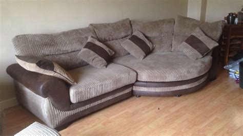 Snuggle Corner Sofa by Open To Offers Corner Cuddle Sofa Large Swivel Chair