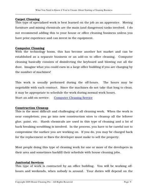 Unsure About Starting A House Cleaning Business Carpet Cleaning Disclaimer Template