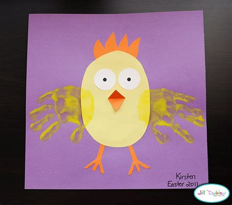 chicken crafts for chicken handprint for easter or farm animals