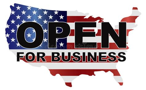 Mba In E Business In Usa by Government Shutdown Usa Map Open For Business Stock Vector