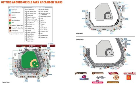 Parking Garages Near Camden Yards by Oriole Park At Camden Yards Maplets