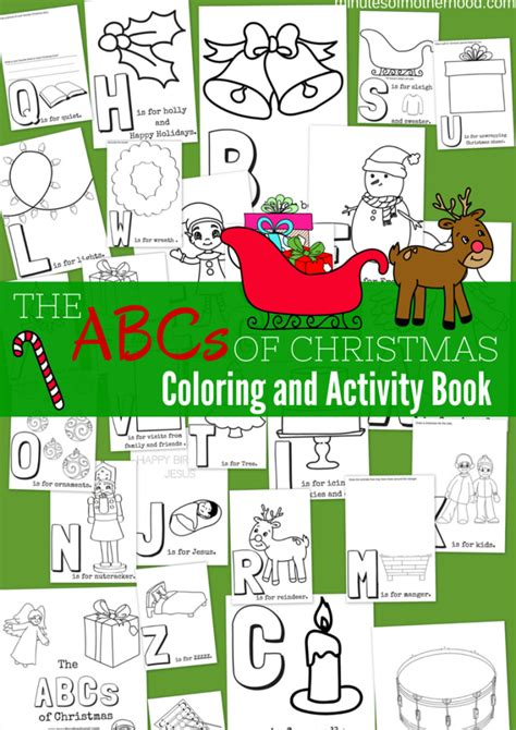 the abcs of christmas free printable coloring and activity