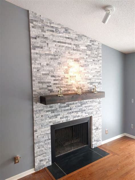 fireplace with stone 17 best ideas about stacked stone fireplaces on pinterest