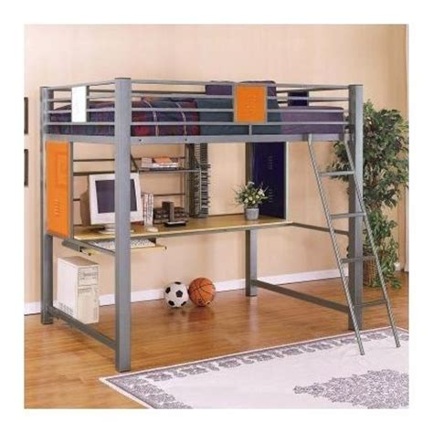 loft style bunk beds powell locker room style full study loft bed bedrooms