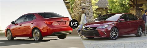 Toyota Corolla Vs Toyota Camry 2017 Toyota Corolla Vs 2017 Toyota Camry Mpg Hp Features