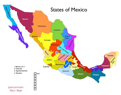 map united states and mexico a map of mexico states all world maps