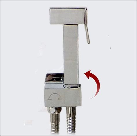 Automatic Shut Shower by Sqa6200 Square Style Bidet Shower In Mirror Chrome With