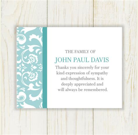 template funeral thank you cards 9 funeral thank you notes sle templates