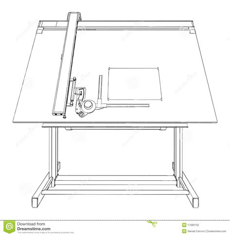 template drawing table drawing table vector 02 stock vector image of line