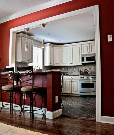 red kitchen walls with white cabinets how to get a caf 233 like kitchen