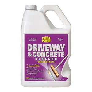 purple power driveway and concrete cleaner