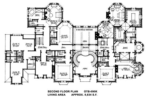 Huge Mansion Floor Plans | 18 390 sq ft second floor huge homes pinterest