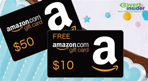 Amazon Gift Card Coupon - free 10 amazon gift card promo with 50 gift card covert insider