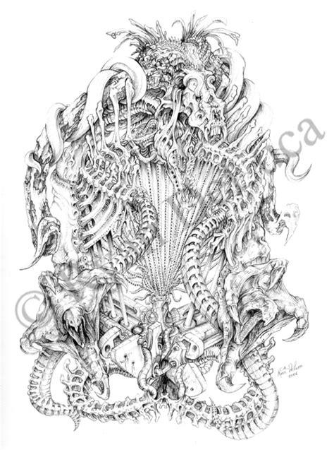 biomechanical bones tattoo biomechanical bone dragon by ryn0saur on deviantart art