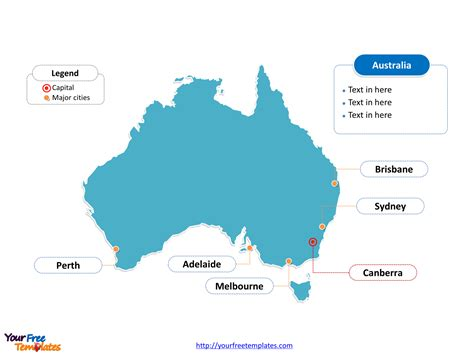 map of australia with major cities free australia editable map free powerpoint templates