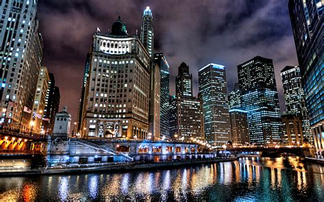Chicago Wallpapers For Mobile And Desktop In Hd Lights In Chicago