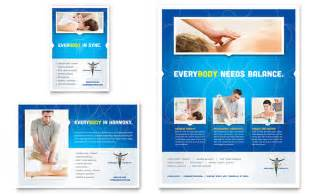 free template for advertisement reflexology flyer ad template design