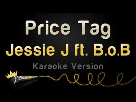 jessie j karaoke jessie j ft b o b price tag karaoke version youtube