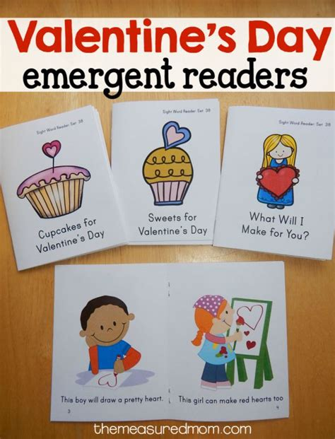 printable kindergarten books free valentine s day sight word books emergent readers