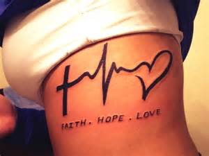 tattoo on ribs can i wear a bra tat faith hope love maybe just the symbol party on my